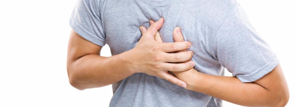 Choroba niedokrwienna serca występuje przy uszkodzeniu naczyń tętniczych.